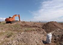 Вскрышные работы мест захоронения боеприпасов